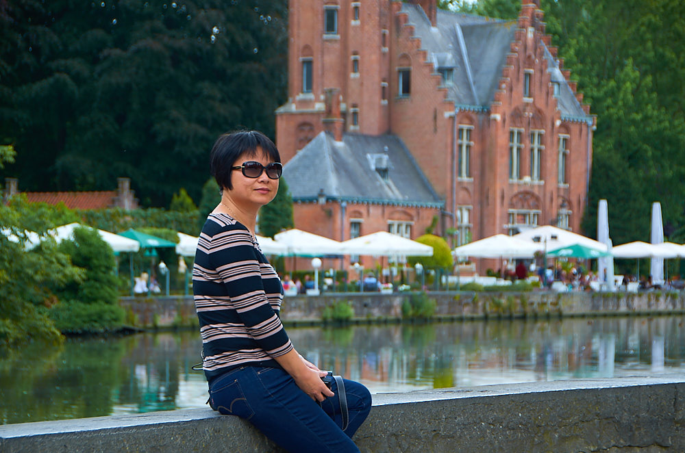 Virginia Zih at Minnewater, Bruges